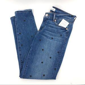 Loft Modern Skinny Jeans 27 Polka Dot Size 4